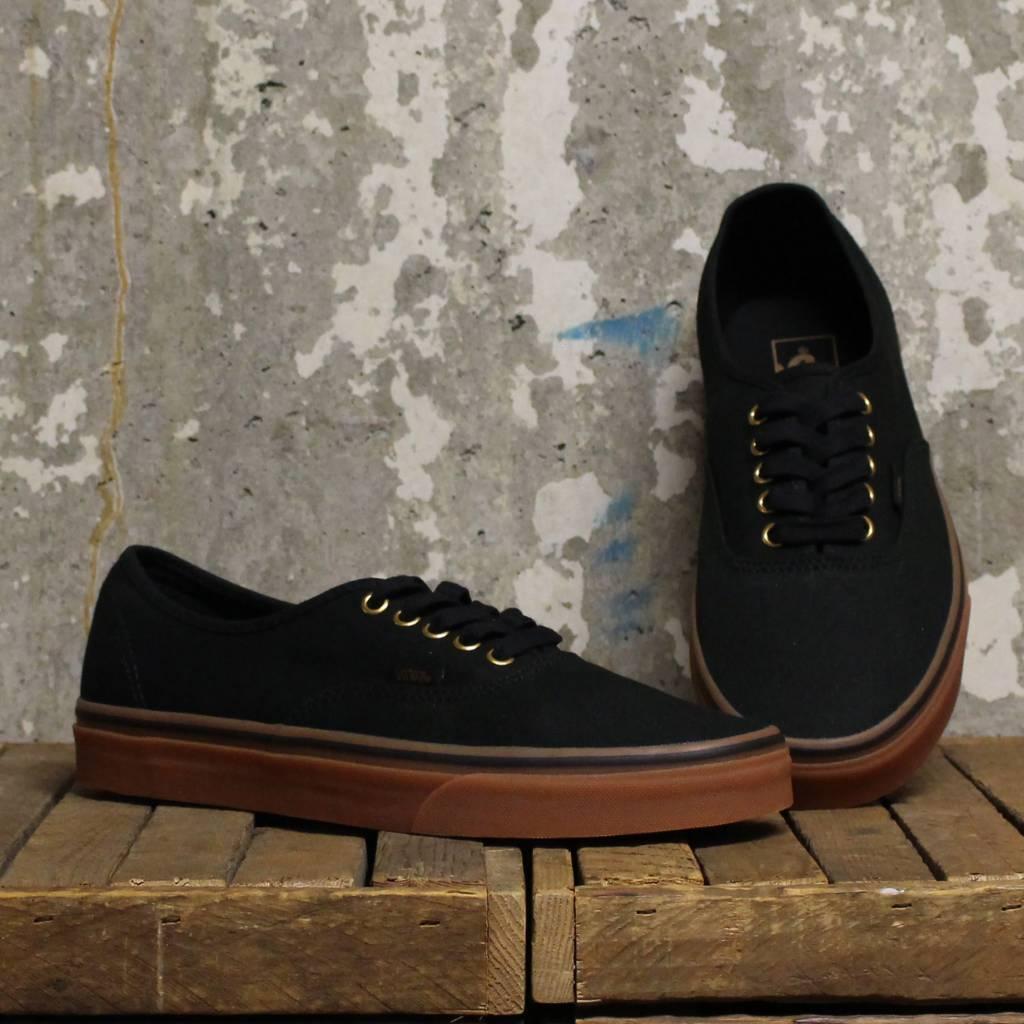vans authentic black rubber