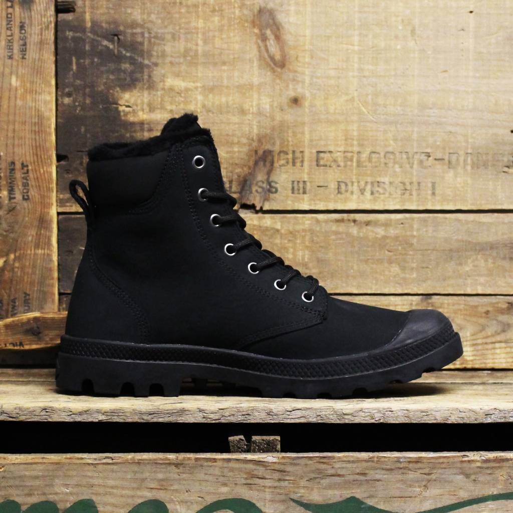 Palladium Palladium Pampa Sport Cuff WPS Wool - Black/Black