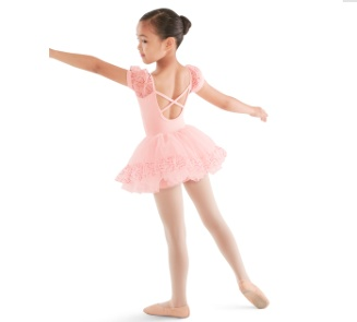 Bloch Puff sleeve X back Leotard M668C