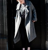 Hackwith Design Oversized Coat with Exaggerated Lapels