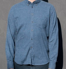 Brooklyn Tailors Nubbed Flannel Long Sleeve Shirt