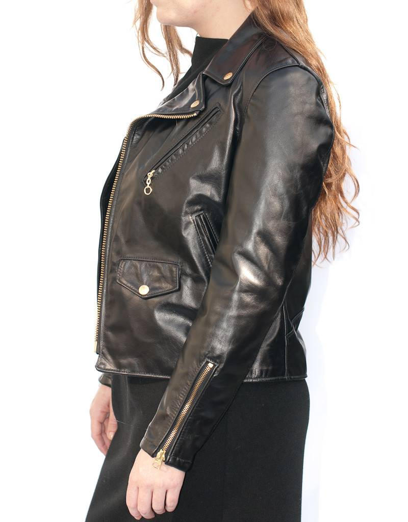 Schott NYC Assymetrical Leather Motorcycle Jacket