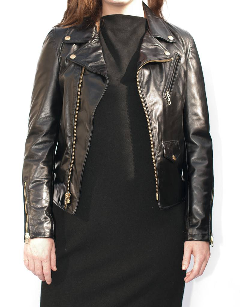 Schott NYC Asymmetrical Leather Motorcycle Jacket