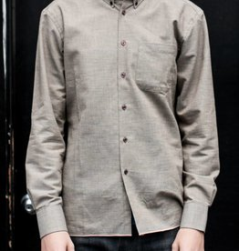 Naked and Famous Denim Regular Shirt in Indigo Selvedge Chambray with Plaid
