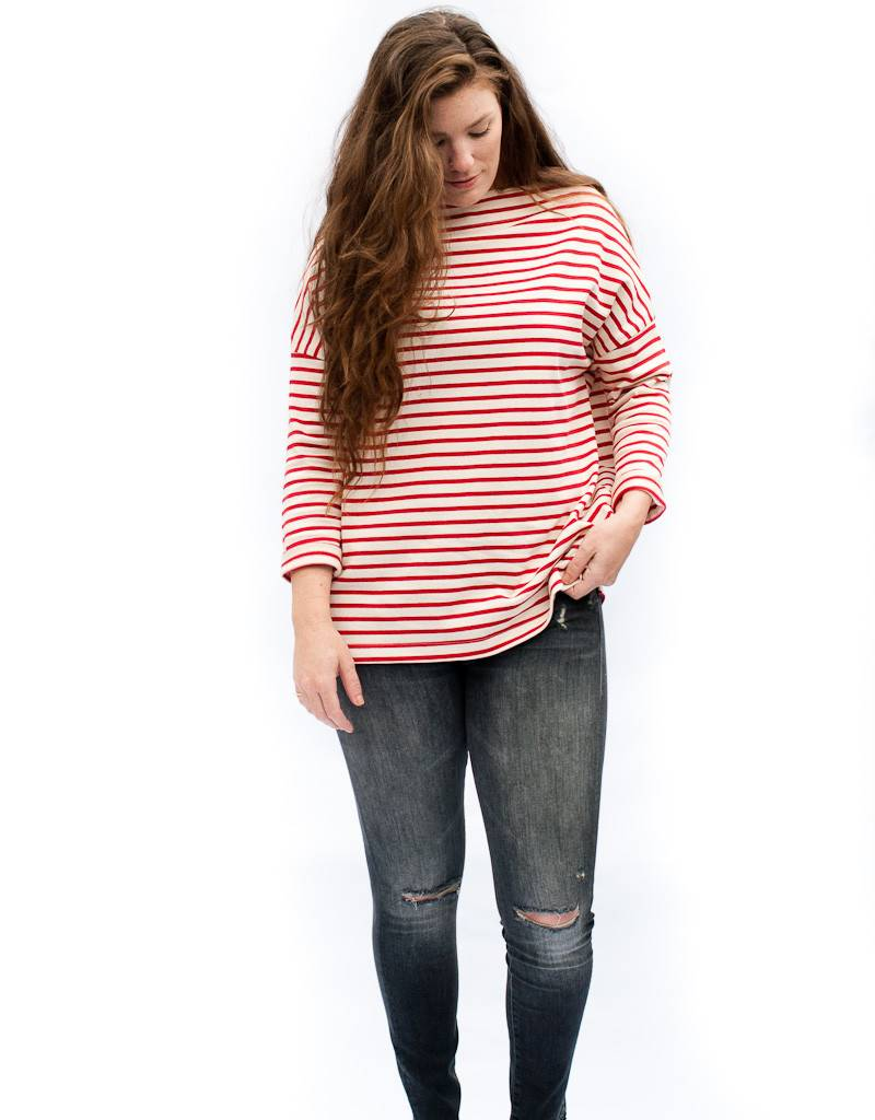 NV Blue Long Sleeve Nautical Stripe