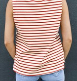 NV Blue Georgie Stripes Japanese Cotton Tank- More Colors