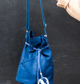 Lotfi Bags Dia Cotton Canvas Bag in Navy