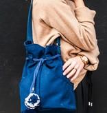 Lotfi Bags Dia Cotton Canvas Bag in Navy