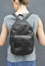 Baggu Leather Backpack in Black