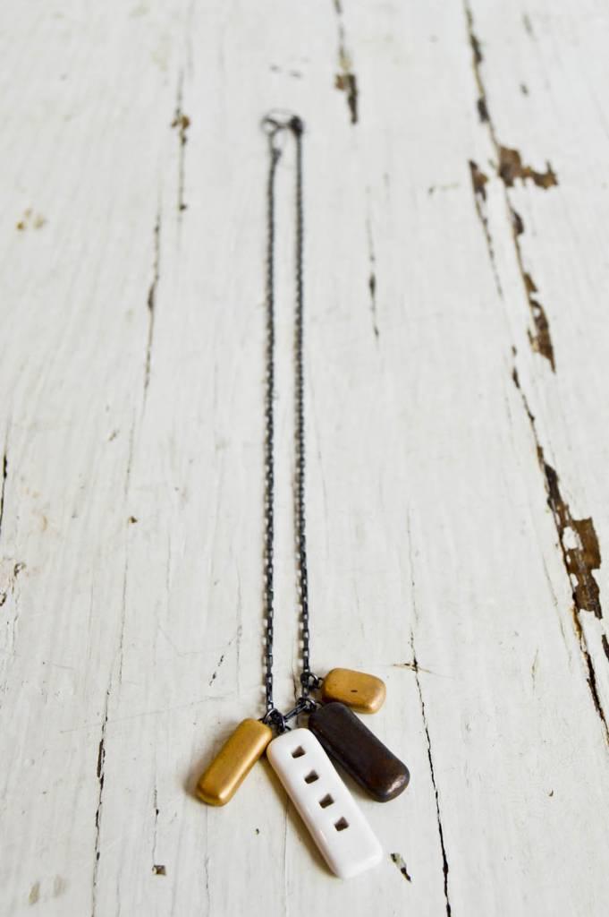 Jessica Wertz Ceramics Four Sisters Charm Necklace