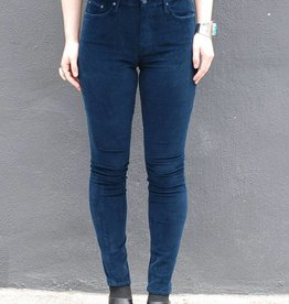 Mother Denim High Waisted Looker Cords in Hopscotch Deep Blue
