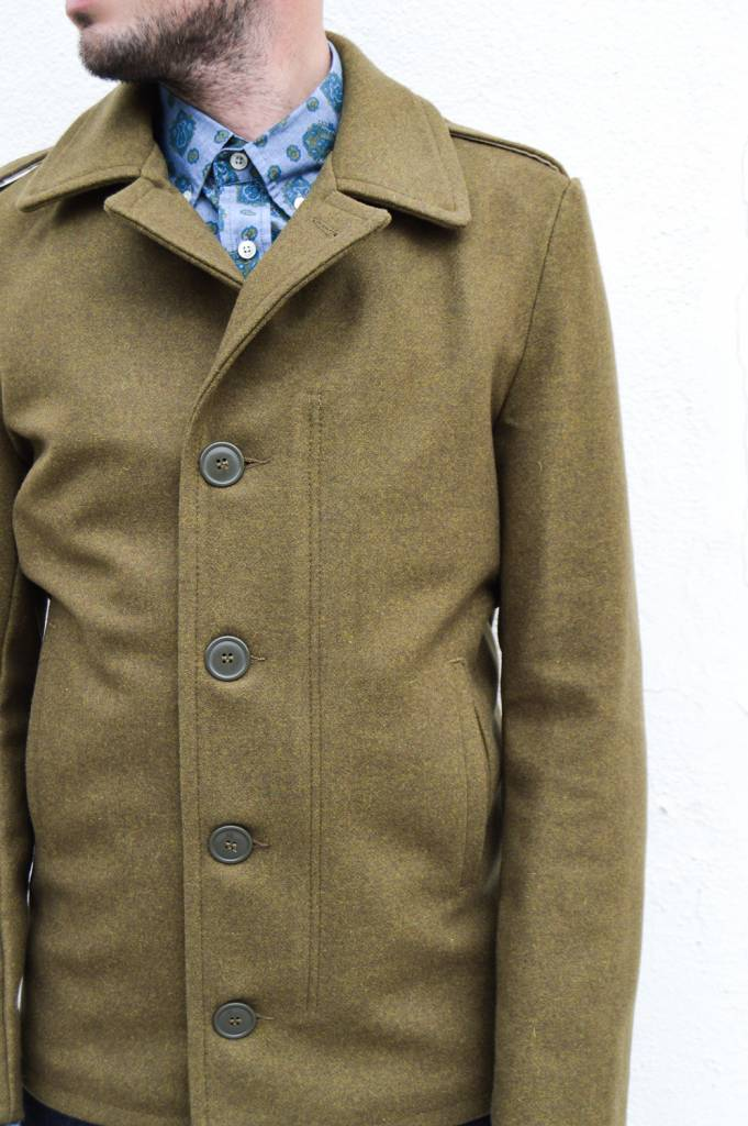 Schott NYC Button Up Wool Coat