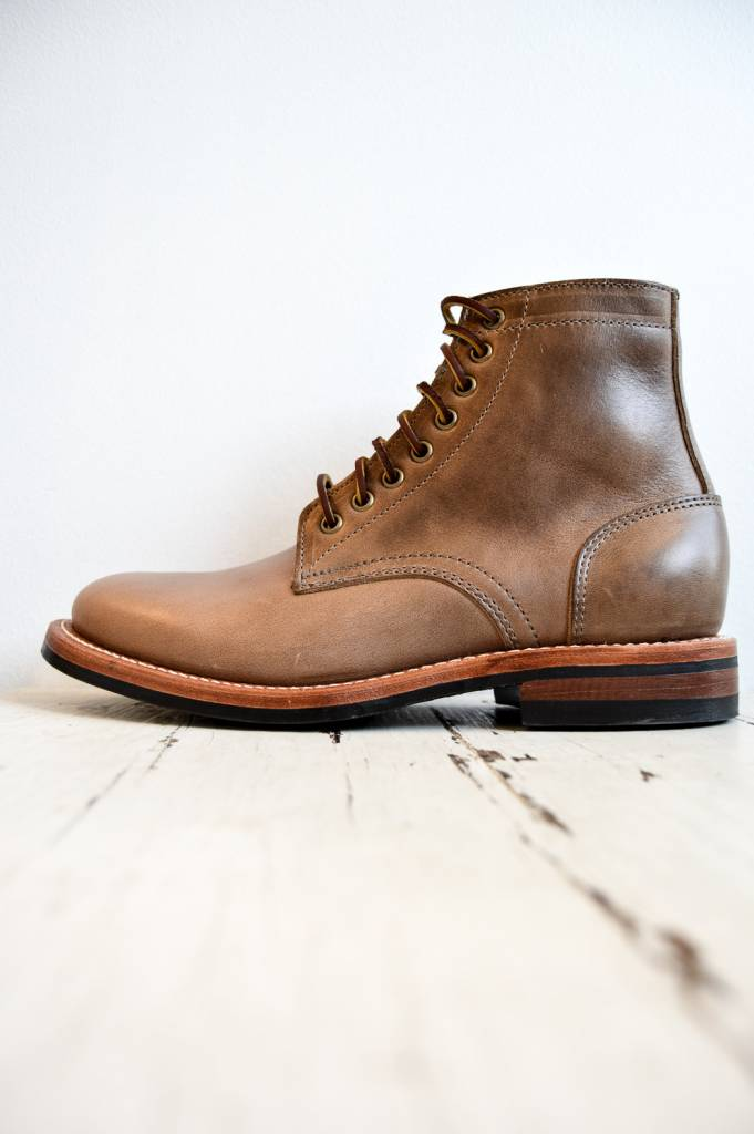 Oak Street Bootmakers Trench Boot with Dainite Sole in Natural