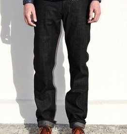Naked and Famous Denim Black x Grey Stretch Selvedge