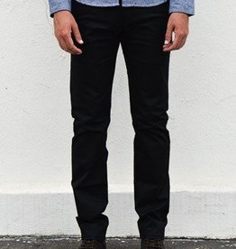 Naked and Famous Denim Black Stretch Twill Pants