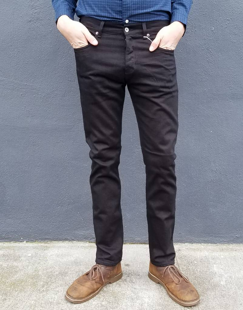 M1 Slim Jean in Rinsed Black