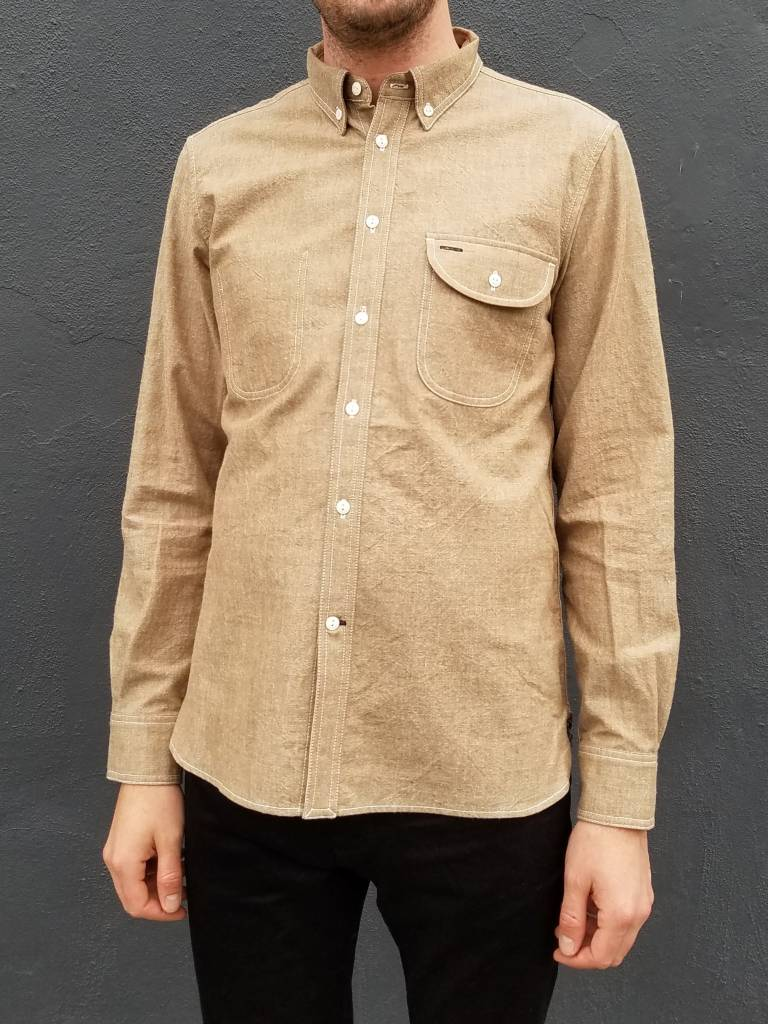 Rogue Territory Brown Chambray Jumper Shirt