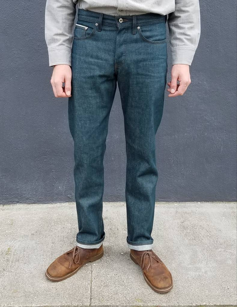 Naked and Famous Denim Weird Guy Jeans in Rusted Blue Selvedge