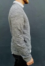 Naked and Famous Denim Doublefaced Slim Crew in Charcoal Vintage