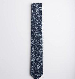 Denim Floral Necktie