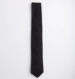 Pick Stitch Black Necktie