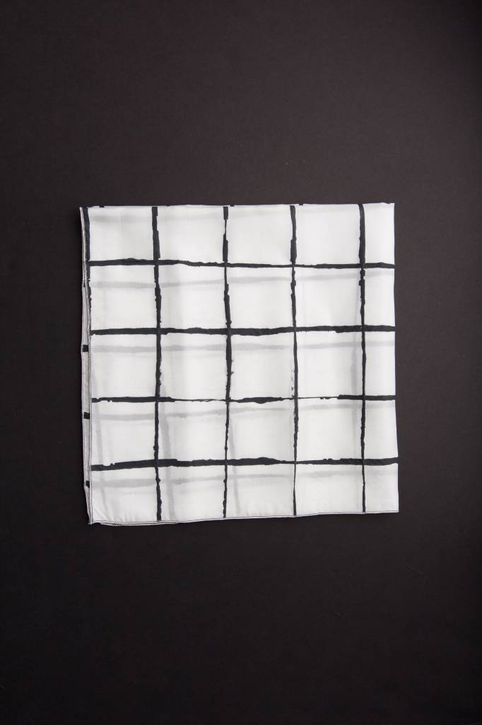 Windowpane Charcoal Neckerchief