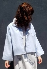 Hackwith Design Cropped Button Up Shirt
