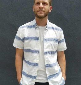 Kato Textured Big Stripe Short Sleeve Button Up
