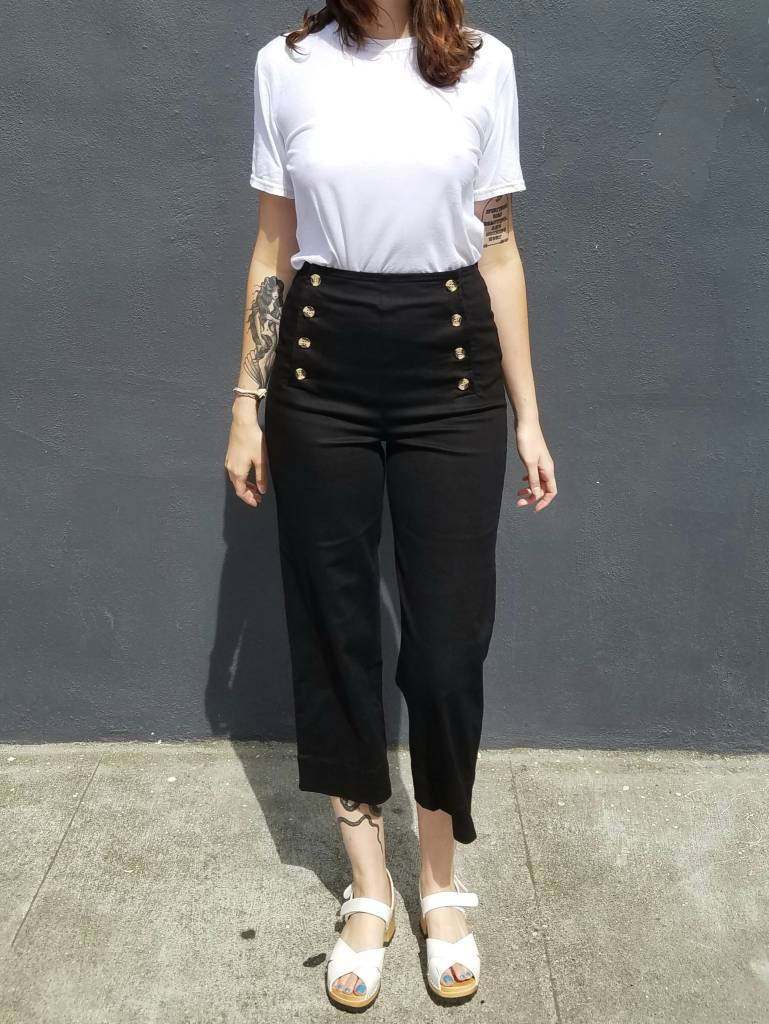 Front Button Sailor Pants- More Colors