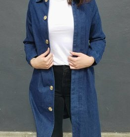 Button Down Denim Coat
