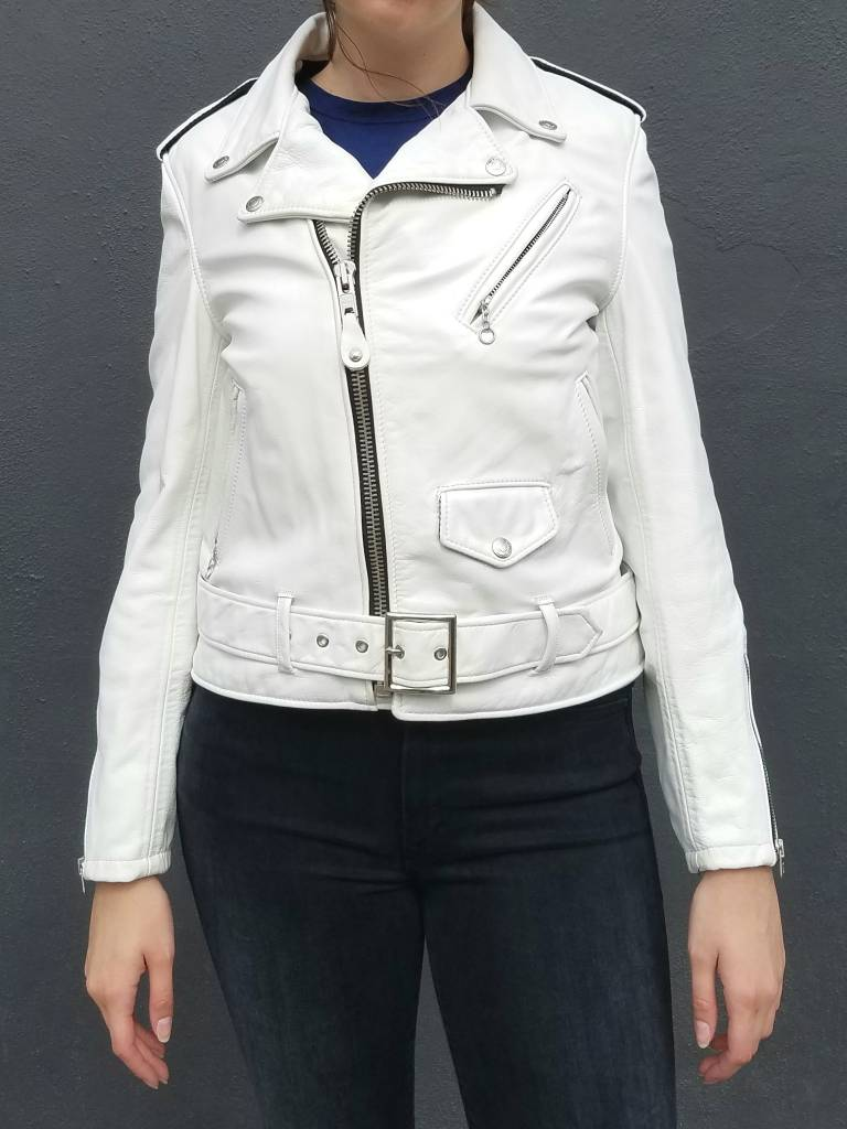 Schott NYC Vintaged Boyfriend Fit Leather Motorcycle Jacket- More Colors