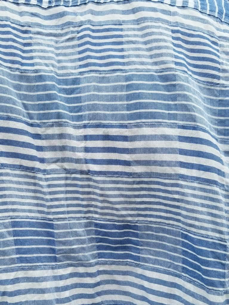 Naked and Famous Denim Striped Windowpane Regular Shirt