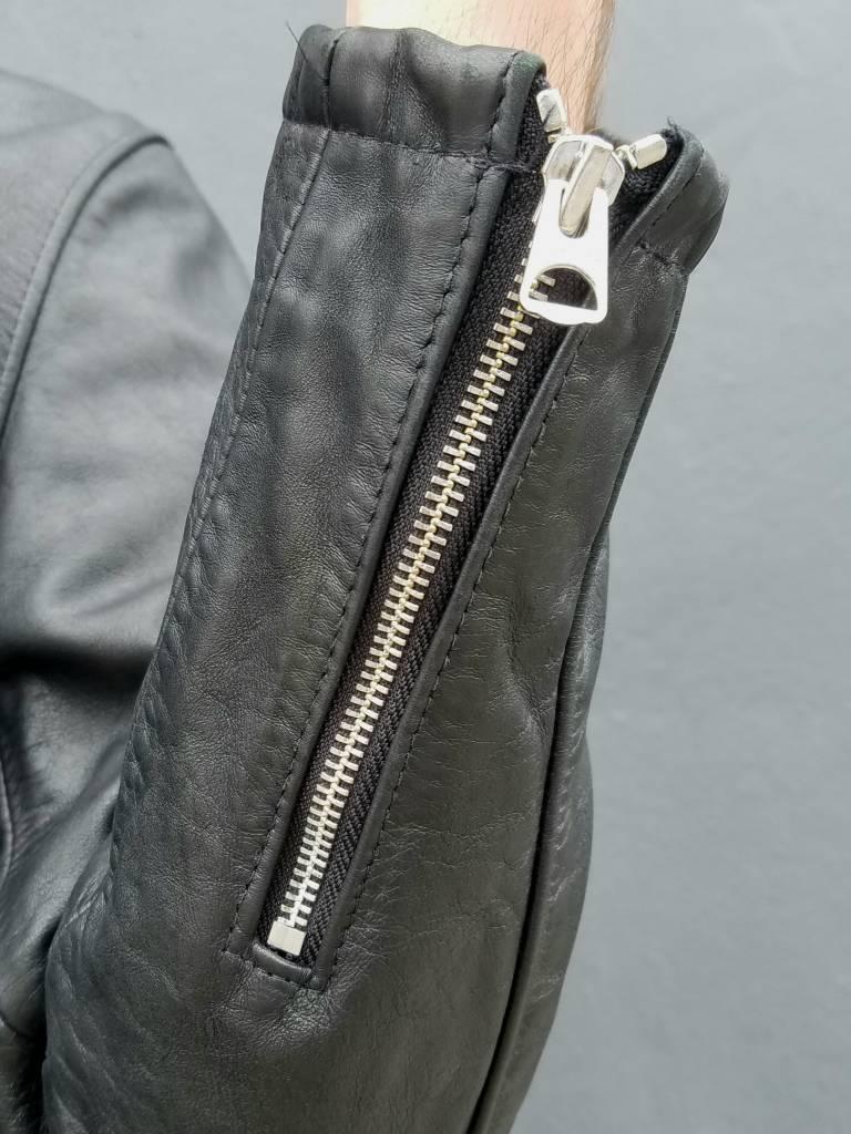 Schott NYC Vintaged Leather Cafe Racer Jacket