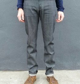 Naked and Famous Denim Weird Guy Jeans in Charcoal Selvedge