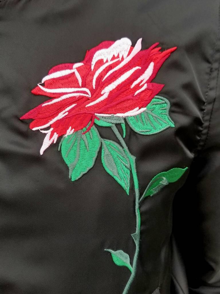 Rose Bomber Jacket