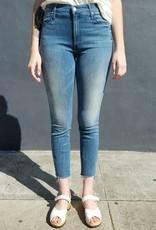 Mother Denim Stunner Zip Ankle Step Fray Jeans in Good Girls Do