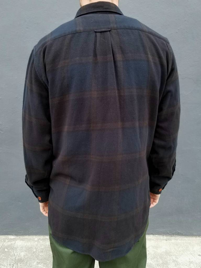 Overdyed Check Twill Over Shirt