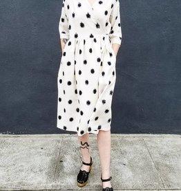 Jamie Lau Designs Dotted Ikat Wrap Dress or Coat