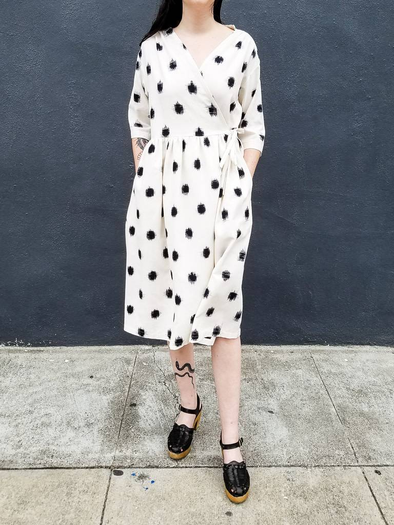 Jamie Lau Designs Dotted Ikat Wrap Dress or Coat