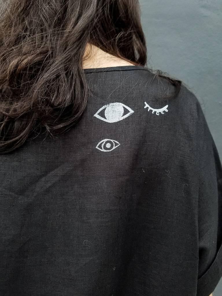 Jenny Lemons Handmade and Handpainted Eyes Dress
