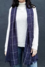 Lightweight Windowpane Scarf- More Colors