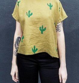 Jenny Lemons Handmade and Handpainted Linen Cactus Top