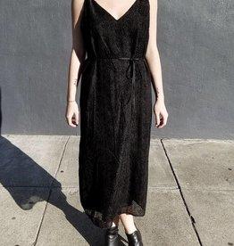 Burnout Velvet Belted Slip Dress