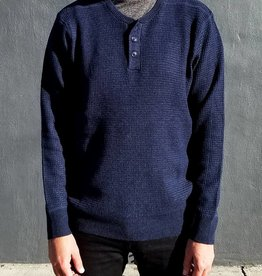 Schott NYC Henley Knit Sweater