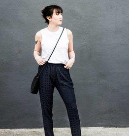 Textured Pull On Pants