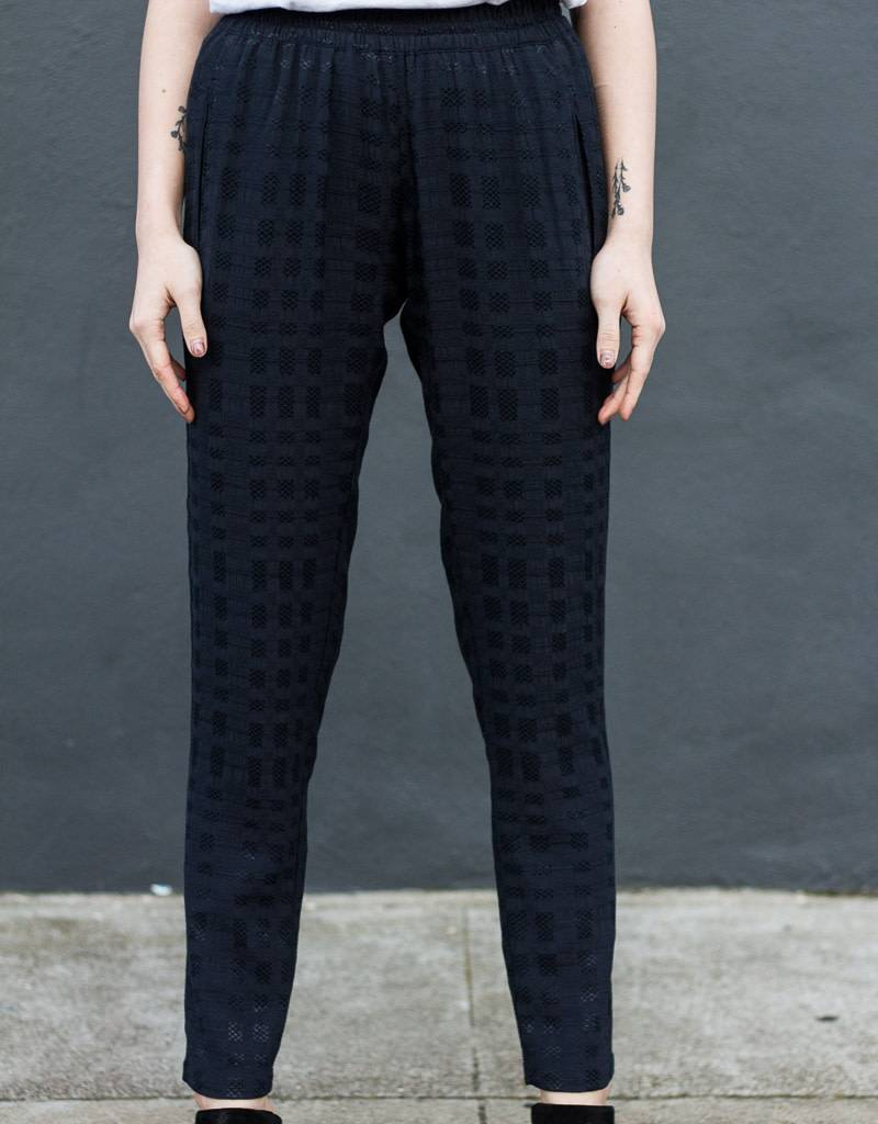 Textured Pull On Pants