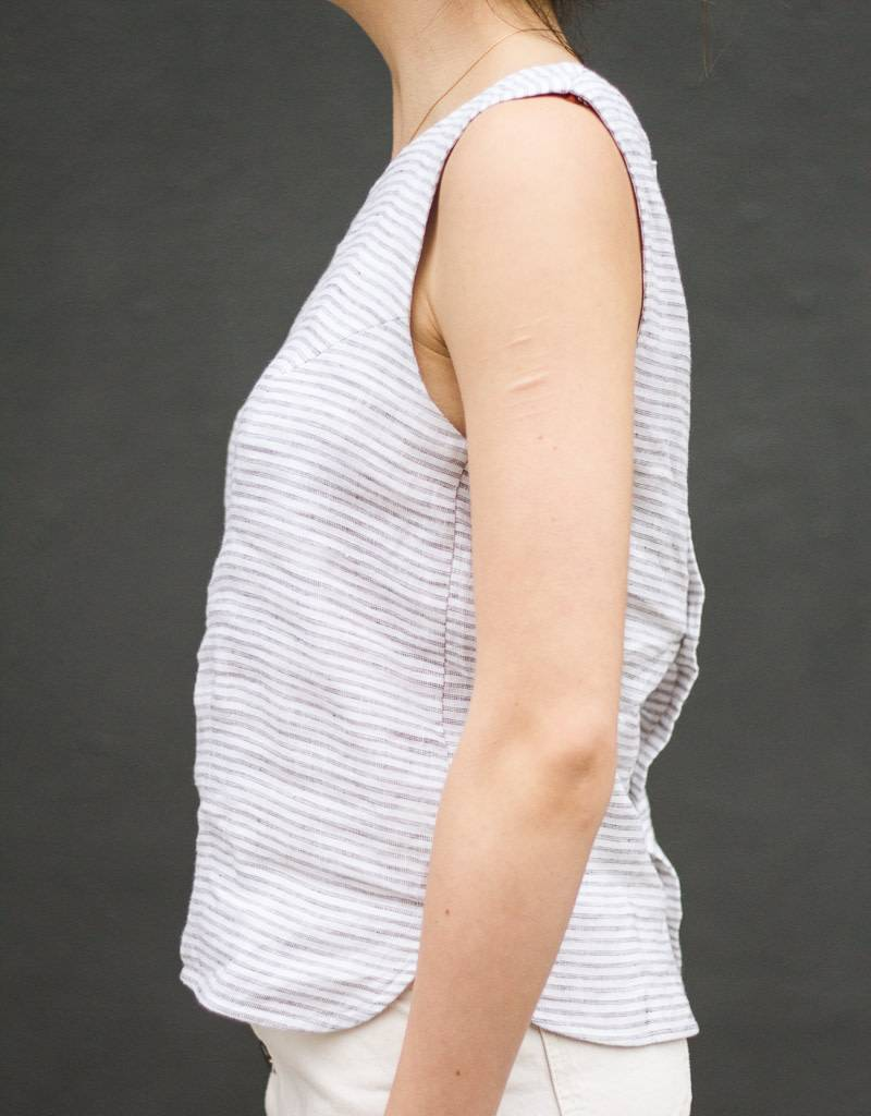 Button Back Tank Top
