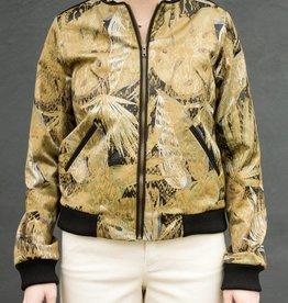 Floral Khaki Blouson Jacket