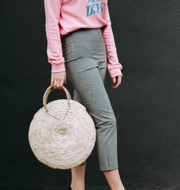 Cropped Gingham Pants