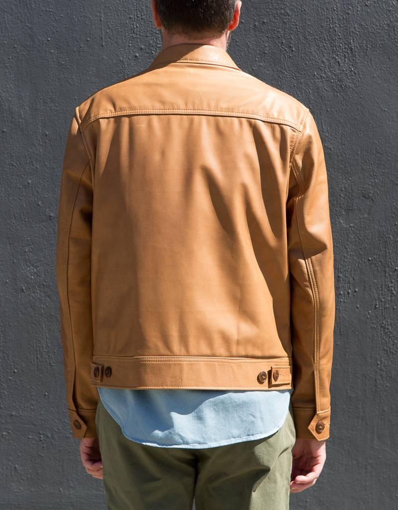 Schott NYC Leather Trucker Jacket